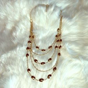 Susan Graver gold necklace